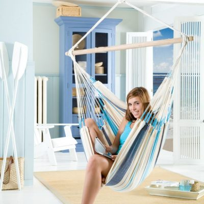 Hammock chair ambiance aqua blue