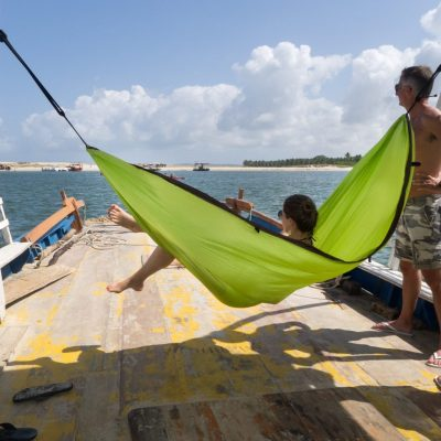 Single Travel hammock Green