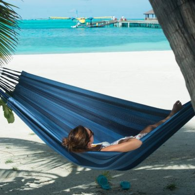 Double hammock Aventura River blue
