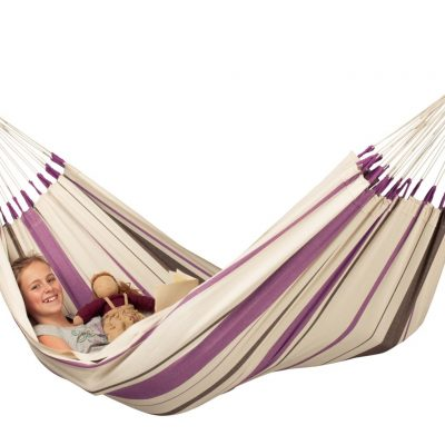 La Siesta single hammock Caribena Purple