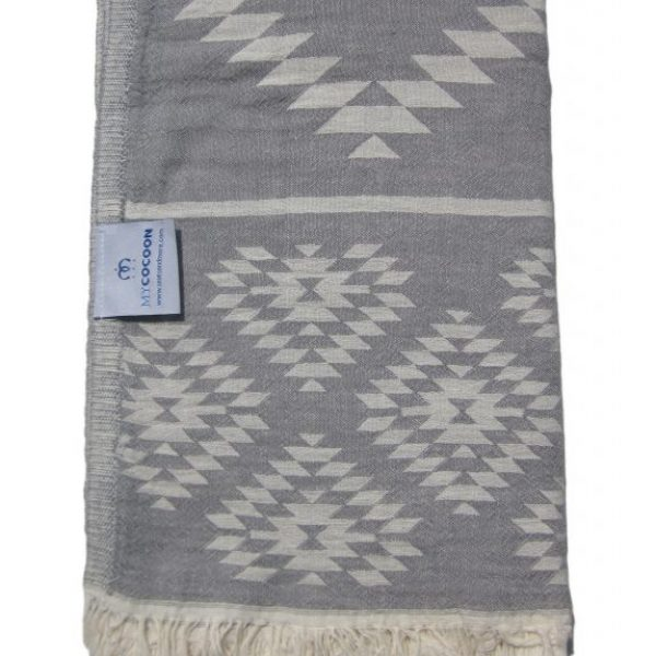 MyCocoon Turkish towel Madeira grey/white