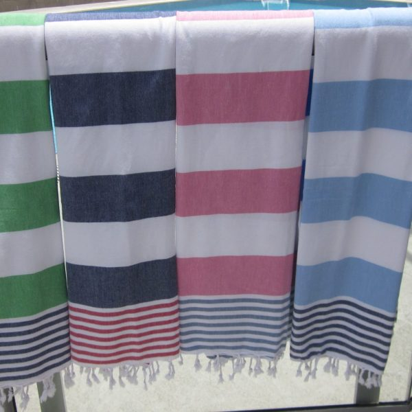 MyCocoon towels Saba pink green blue