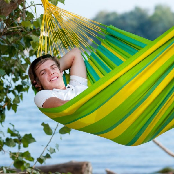 La Siesta single hammock Sunrisa Lime