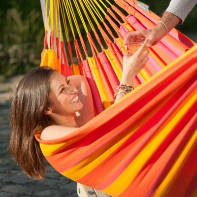 La Siesta single hammock Sunrisa Mandarine
