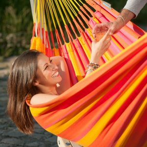 SINGLE HAMMOCK SUNRISA MANDARINE