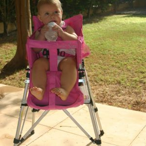 FOLDING TRAVEL HIGH CHAIR PINK