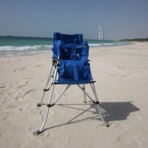 FOLDING TRAVEL HIGH CHAIR STRONG BLUE