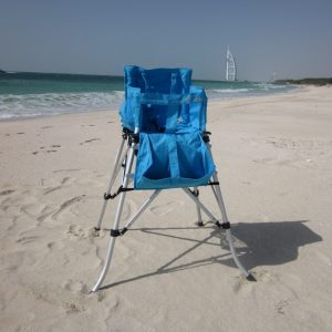FOLDING TRAVEL HIGH CHAIR AQUA BLUE