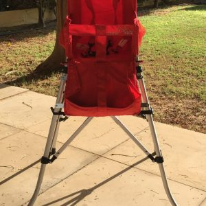 FOLDING TRAVEL HIGH CHAIR SIGHTLY RED