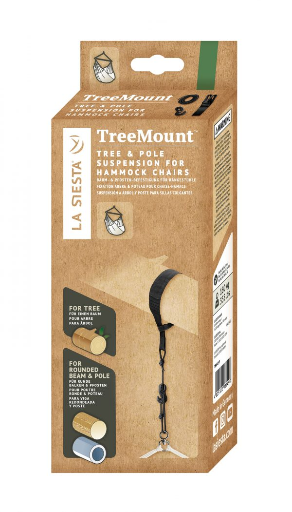 Multipurpose Suspension for Hammock Chairs TreeMount Black