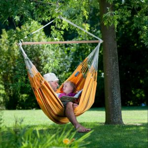 LONGER HAMMOCK CHAIR CURRAMBERA APRICOT